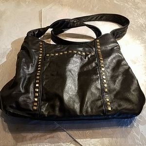 Dali black leather handbag